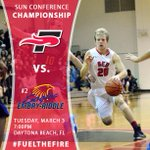 Big night as @SeuFireMBB plays in its first @TSCSports MBB Championship game at 7pm! #FuelTheFire #TSCMBK http://t.co/8GeGYjc7dq