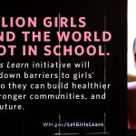"""""""62 million girls around the world who should be in school, aren't."""" —Obama: http://t.co/cEWIR5koKc #LetGirlsLearn http://t.co/BYY5iaOqLf"""