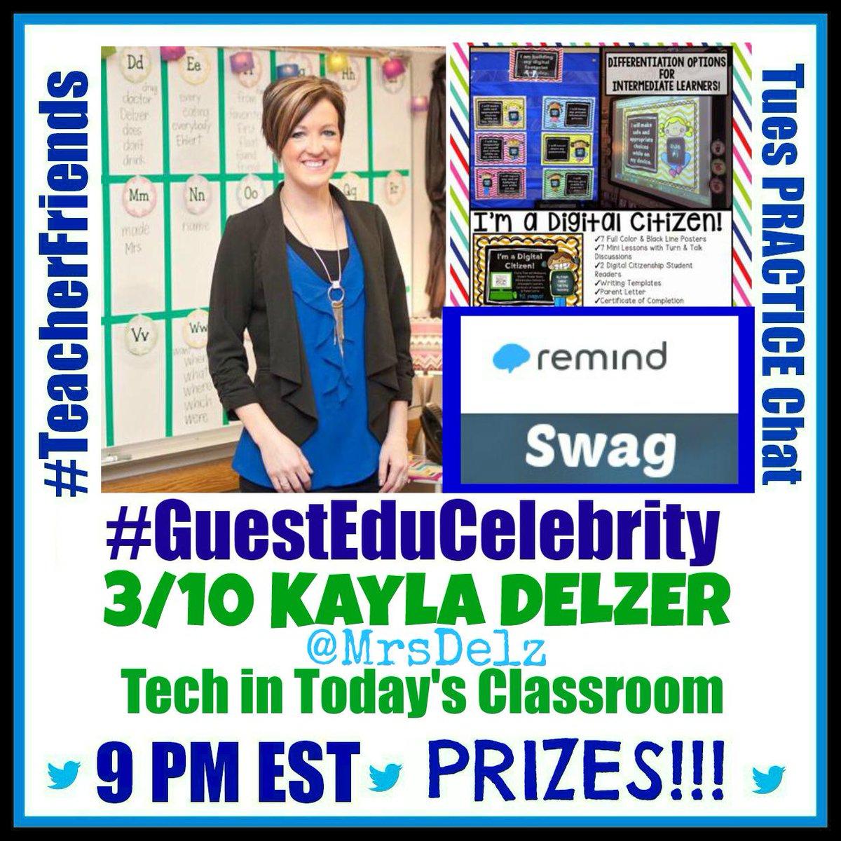 #TeacherFriends Next 3/10 we focus on #Technology in the classroom w @MrsDelz + @RemindHQ Please Retweet! http://t.co/yhLlmRpOki