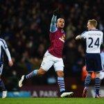 HT Aston Villa 1-0 WBA - Gabriel Agbonlahor with the goal, Delph hit the post http://t.co/nxI0lykP8m #avfc #wba http://t.co/ucDH5MsknY
