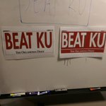 .@OUDAILY READERS: For Saturdays OU/Kansas game, which Beat KU sign do you prefer? #Sooners http://t.co/ywn8kVUekX