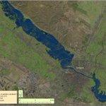 """Alucinante RT @meteo_aragon: Asi se ve la crecida del #Ebro desde el espacio, exactamente desde el """"Landsat 8"""". http://t.co/fDl2kkJvYE"""