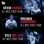 Congrats @KPangos, @PKarnowski, & @kwiltj! Thats 3 Zags named to the All-WCC First Team for the 3rd time in 4 years! http://t.co/fSkwUFVuJz