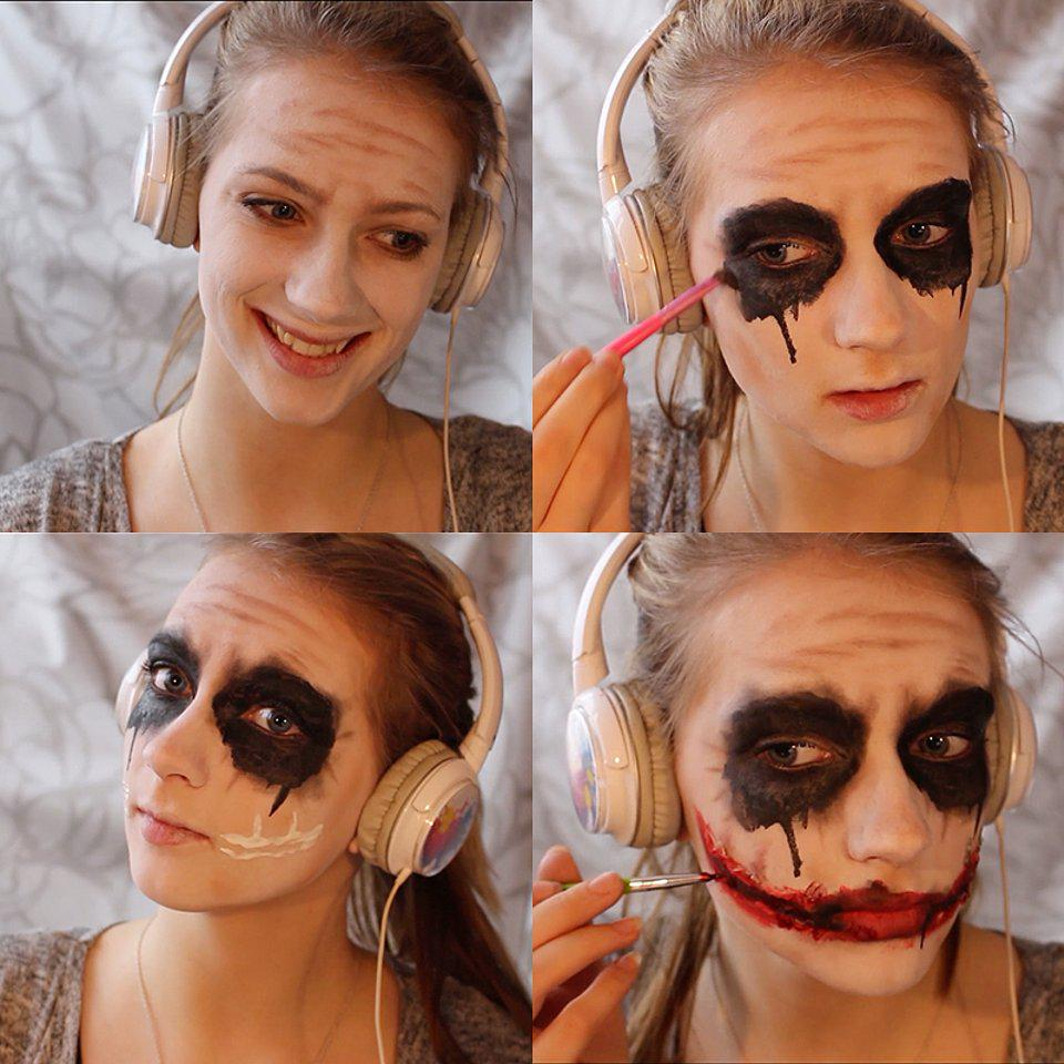 Wanna Know How To Get These Scars Check Out This Joker Makeup - Joker-makeup-tutorial