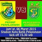 #PERSIPDay RT @std_kotabatik: #UjiCoba vs @PersebayaID 6/3/2015 Jam 15:30 Waktu Indonesia Pekalongan #PERSIPPersebaya http://t.co/GsWPMMlHus