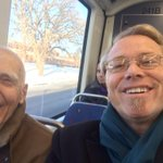 Riding to Minneapolis with Judge Davies on the Greenline. #HowWeRollMN #mnleg #stribpol http://t.co/uc92WEKplr