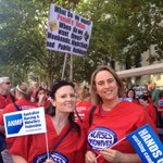 Hands off our penalty rates if you want a midwife when you go into labour! With @Roxi_MW @ANMF #march4 http://t.co/41QdhV868z