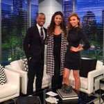 Missed being w/ @TerrenceJ & @GiulianaRancic on the @enews set. They've always been so supportive! #watchmedoubletap