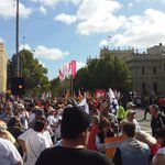 Union rally in Melbourne looking strong http://t.co/BOsXQmJh6g