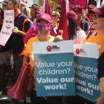 Educators out in force to #march4 for our work to be valued. #solidarityselfie #ausunions @GedKACTU http://t.co/MpdRJ1WHb6