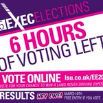 6 hours. 360 minutes. 21600 seconds. Dont delay - vote NOW! http://t.co/rsurTbHhnq #EE2015 http://t.co/Q55pZYvnis