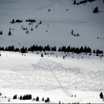 The maple leaf at its best! Snowshoe art in the Rockies #Alberta  http://t.co/M1rFHchfph @CBCNews http://t.co/oudKS86VZe