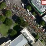 Thousands rally in Melbournes CBD against the Abbott governments workplace relations agenda. #9News http://t.co/LcAEGd1I74