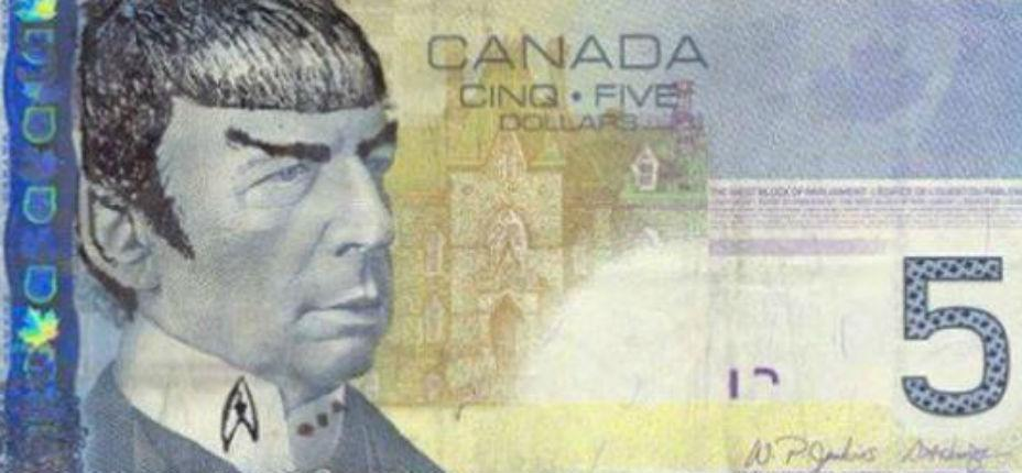 Bank of Canada urges 'Star Trek' fans to stop 'Spocking' their fivers http://t.co/cC3RDZzwmI http://t.co/q505JusfDZ