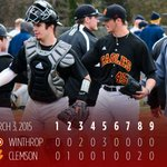 Eagles Win!!! @WUBaseball10  holds to to 5-4 victory over Clemson. Eagles at USC Upstate tomorrow 4 pm #BigSouthBASE http://t.co/WwkOrjqSVp