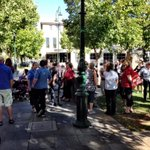People are gathering outside the Bendigo Town Hall to protest against @Greater_Bendigos HACC, childcare plans http://t.co/VTPL2iGuP6
