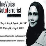 #OneVoice Majority of a country cannot be terrorists #PeoplesPresident #NasheedUnderArrest #WhatInspiresMe #ITBBerlin http://t.co/JwT1EqsRNj