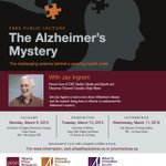 """The Alzheimers Mystery"" with Jay Ingram! Wed. Mar 11, 7pm Galt Museum #Lethbridge.  Reception follows! #yql #uleth http://t.co/XRbbmZtcMC"