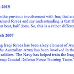 So who you going to believe on why were returning to Iraq - Tony Abbott or John Howard? http://t.co/MCkhFIFuKA ($) http://t.co/NgJmqmkpOV