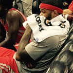 Josh Smith right next to me talking %#%^£ as he cant get back in game... http://t.co/9VZ2Isib2r