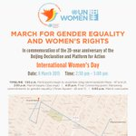 RT @ravikarkara: @MirzaSania #Beijing20 March from @UN to @Timessquare on International Women's Day March8 #GenderEqualityMarch http://t.co…