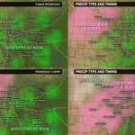 Newest data brings in higher frz rain/sleet/snow amounts to North TX! After 6PM, all frz rain/sleet in #DFW area: http://t.co/pFraEJaD5c