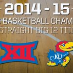 Congratulations to Kansas on its #Big12 title. Jayhawks will be No. 1 seed at #Big12MBB Championship for 12th time. http://t.co/rkoidK8u1b