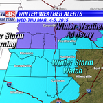 Winter Storm Watch has been expanded to include Cullman, Madison & Morgan Counties for icing potential Thu AM. http://t.co/hNA19AdaWg