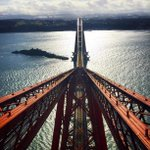 The Forth Bridge is 125 years old today. Weve been taking some spectacular pics from the top of the crossing: http://t.co/SdDRmQc3ea