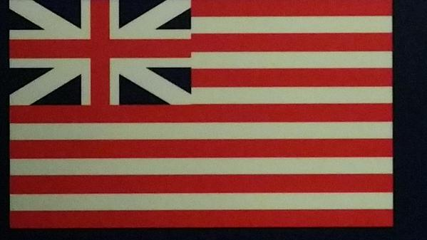 The flag of the East India Company, which apparently influenced the design of the Stars & Stripes via @dalrymplewill http://t.co/V3Vh58BNX4