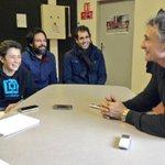 Aujourdhui, lhonneur de la première question à G. Novès était pour Remy, apprenti journaliste ! :-) #USOST http://t.co/ZyI1u96cDI