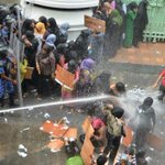 2012 - Security forces used water canon on MDP women to disperse a crowd of 20 people! Darker Maldives! #ITBBerlin http://t.co/nJZgL3jEPb