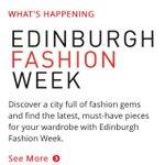 Inaugural Edinburgh Fashion Week launches Sat 7th! Follow @edinburgh See More: http://t.co/KXTQqqUwsb #EdFashionWeek http://t.co/lfuYKQI6UX