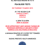 #warwick #psa #prostatecancer Drop-in session Nelson Club 19th March @Courier_Ed @CovTelLive http://t.co/TR6uNlu95S