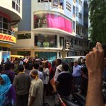 Protests #HappeningNow MDP Office Krimathi SosunMagu #FreePresidentNasheed #Maldives #ITBBerlin #ITB2015 http://t.co/3PxtrQzVal
