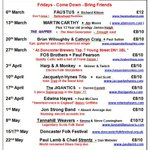 Details of some great #gigs coming up @rootsmusicclub at Ukrainian Centre #doncaster from now until the end of May http://t.co/twnugVpUBO