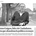 Deja la política @GuillermoGuigou, un luchador contra la corrupción y una persona con sensibilidad @PSOESantaCruzTF http://t.co/FnjMKYb3Ot