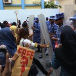 #Maldives #MDP woman protests near Prz office,police charging #NasheedUnderArrest #ITBBerlin #ITB2015 #WhatInspiresMe http://t.co/6b2l2HrJu5