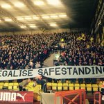 #safestanding action at Watford last night by @The1881_wfc - like the banner at your club? Contact @1894Group_MCFC http://t.co/xlYhWWSlXI