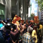 Rogue police chrging #Maldives woman protests near Prz office #NasheedUnderArrest #ITBBerlin #ITB2015 #WhatInspiresMe http://t.co/ysLxYXQ8HP