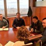 Empezamos la reunión con representantes del Colegio de Arquitectos para modificar la ITE @PSOESantaCruzTF #Participa http://t.co/i9maolKPkh