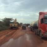Ongoing road works on #Kamdini-#Gulu road. 10% of works done and the project is funded by the government of #Uganda http://t.co/9eLuFG4fFp