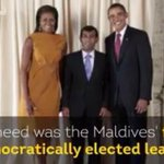 Yameen! Its impossible to you to take a pic with American president. But our Prez Nasheed did it & break the record http://t.co/ZEEfkOYCYO