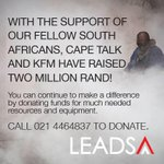 The initial target was R250 000. We are now on R2.2m. Lets go for R3m. #FireRadiothon @lead_sa @945Kfm @Radio702 http://t.co/SpJnNxUV9P