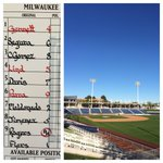 Let the games begin! Todays lineup vs. @MKE_Baseball. #CactusCrew http://t.co/nE8tDa5HY2