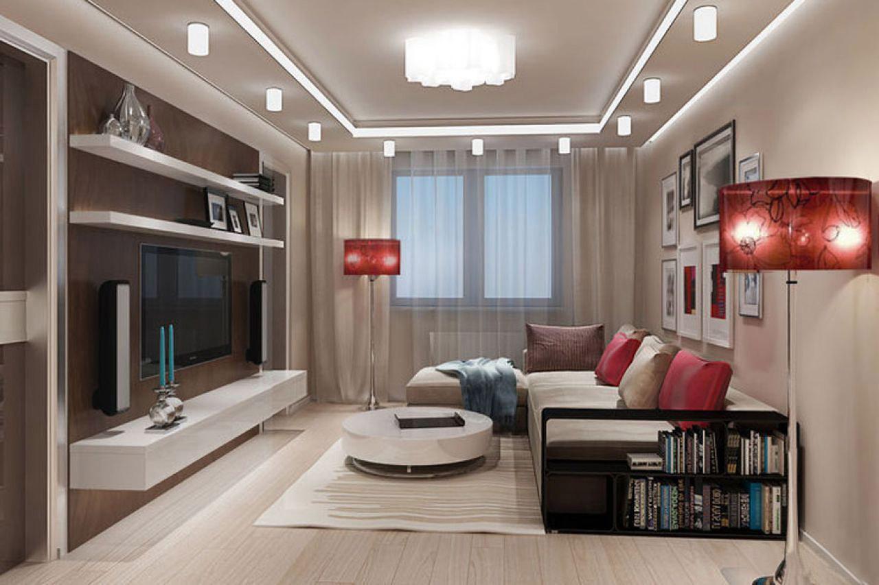 Интерьер зала 32 кв фото
