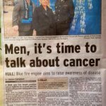 Excellent piece in todays @hulldailymail about yesterdays @NHSHullCCG @Hull2020 @ProstateUK launch. #BlueEngine http://t.co/A6TJlyHxfM