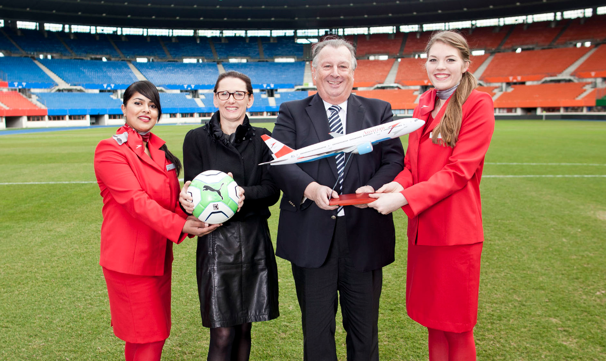 Austrian Airlines is the Official Carrier of the ÖFB for 2015 and 2016: