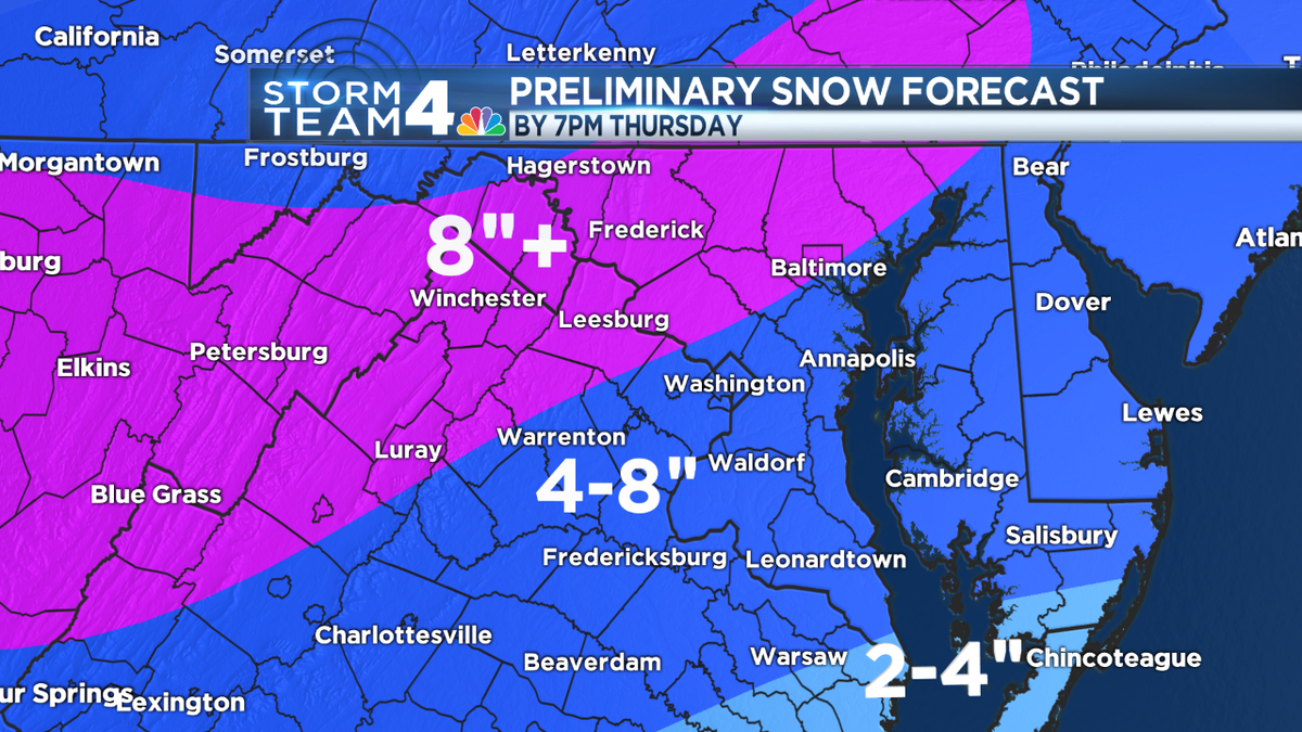StormTeam4  #WinterStormAlert  updates on #NBC4 TV. Thursday SNOW TOTALS forecast: http://t.co/w0ZskIvFib