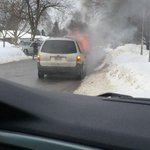 RT @katits: Car on fire on Fuller Street off of Highbury Ave. traffic being re-routed through side street #LDNont http://t.co/onRbjsyBvO